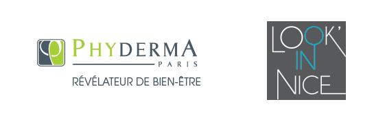 Logos de Look'in Nice et Phyderma.