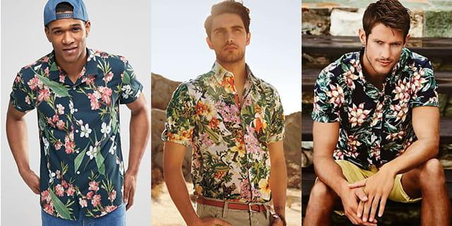 Hommes portant des chemisettes décontractées.